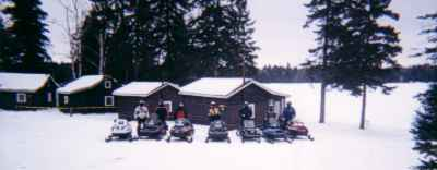 Snowmobiling Adventure near the French river at Owl's Nest Lodge